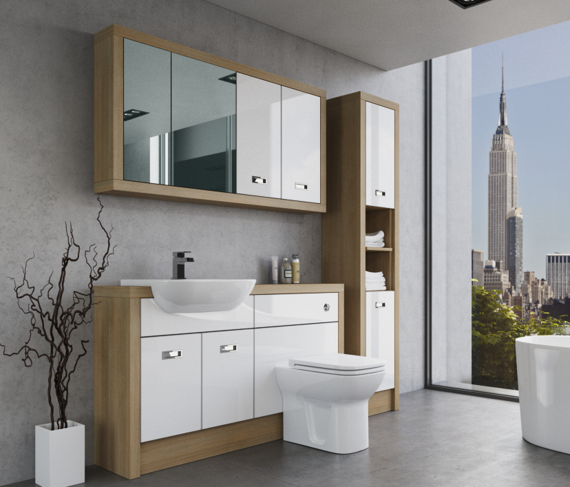 Ideas modern bathroom fitted furniture bluewater